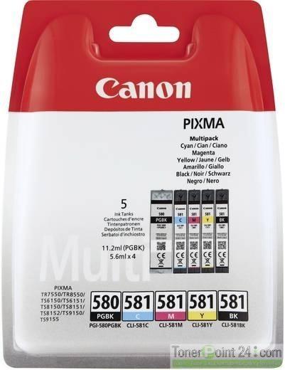 Canon Tinte Multipack PGI-580 für PIXMA TR7550 TR8550 TS9150 2078C005