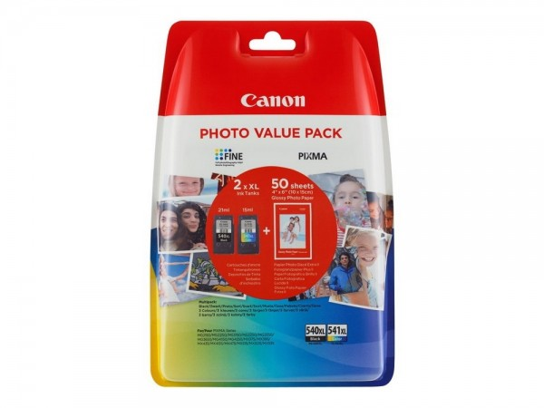 CANON PG-540XL + CL541XL Multipack 4x6 Fotopapier GP-501 MX375 MX435 MX515 MG2140 3140 4140