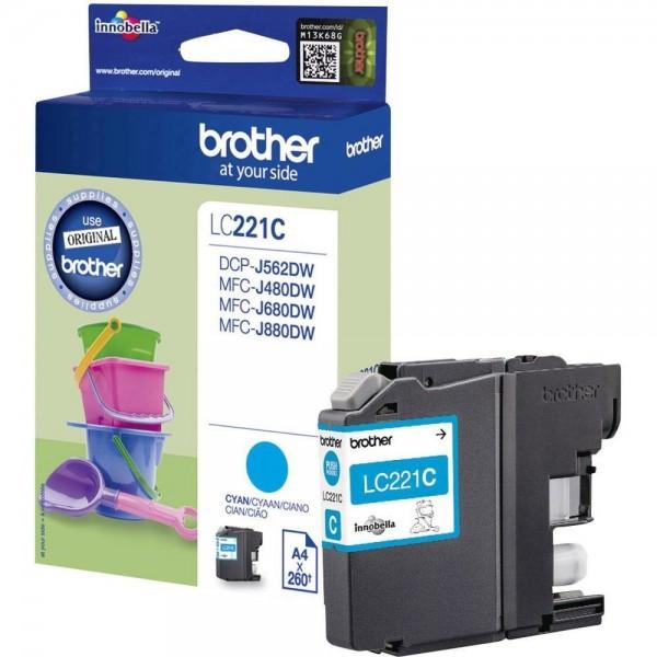 Brother LC221C Tintenpatrone Cyan DCP J562DW MFC-J480 MFC-J680 J880