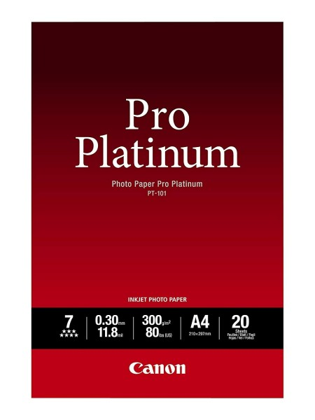 Canon PT-101 pro platinum Fotopapier inkjet 300g/m² A4 20 Blatt 1er-Pack