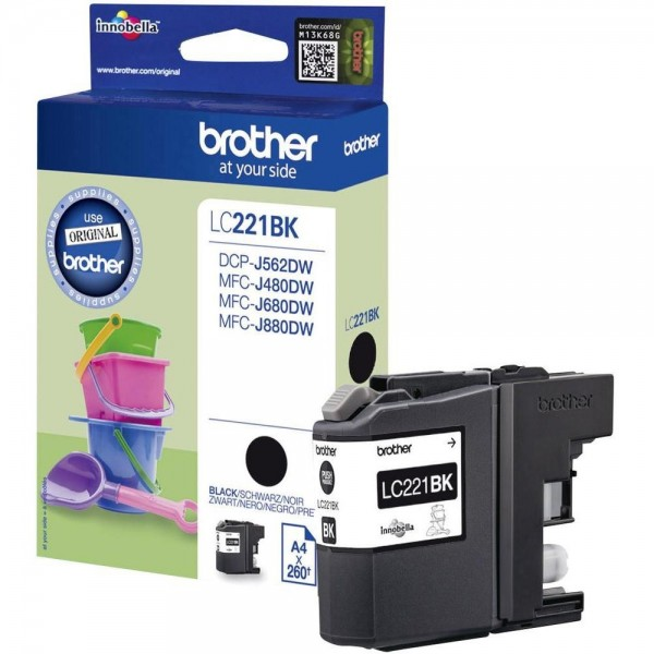 Brother LC221BK Tintenpatrone Black DCP J562DW MFC-J480 MFC-J680 J880