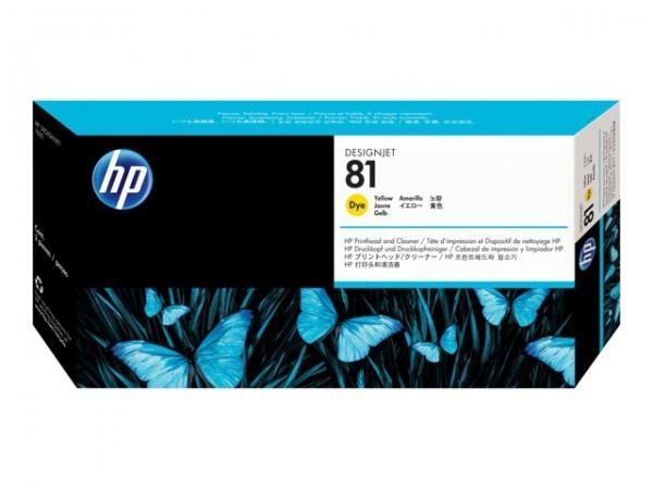 HP 81 Druckkopf dye C4953A Gelb incl. Reiniger DJ5000 DJ5500 Serie
