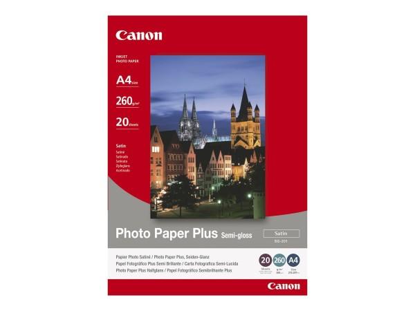 Canon SG-201 semi glänzend Fotopapier inkjet 260g/m² 10x15cm 50 Blatt 1er-Pack