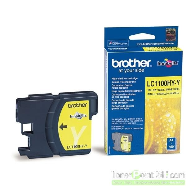 Brother Tintenpatrone Yellow LC1100HYY MFC-6890CDW MFC-5890CN