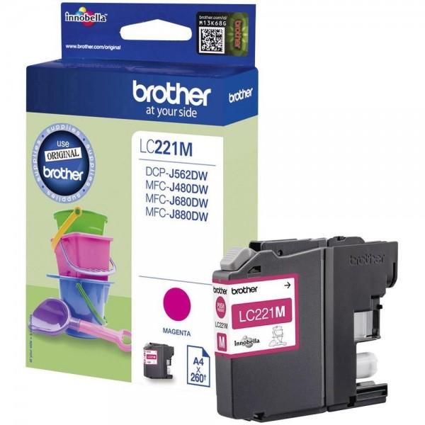 Brother LC221M Tintenpatrone Magenta DCP J562DW MFC-J480 MFC-J680 J880