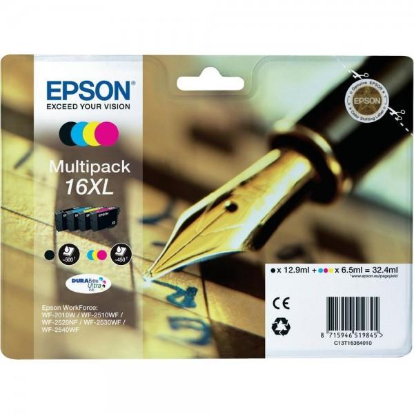 Epson Tintenpatrone 16XL Multipack WF-2010W WF-2510WF WF-2520NF WF-2530WF WF-2540WF 2630WF 2650WF 27