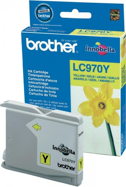 Brother Tintenpatrone Yellow LC970Y
