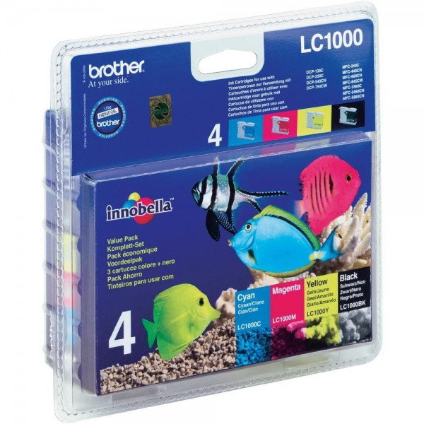 Brother Multipack LC1000 Black Cyan Magenta Yellow