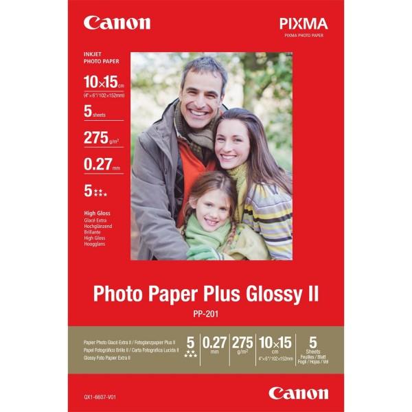 Canon PP-201 glänzend Fotopapier 10x15cm 5 Blatt