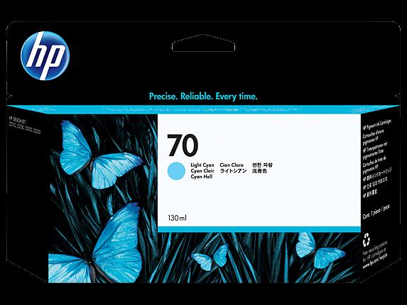 HP 70 Tinte Light Cyan DesignJet Z2100 Z3100 Z3200 Z5200 C9390A