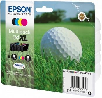 Epson Tinten T34 XL Multipack für WorkForce Pro WF-3720DWF WF-3725DWF