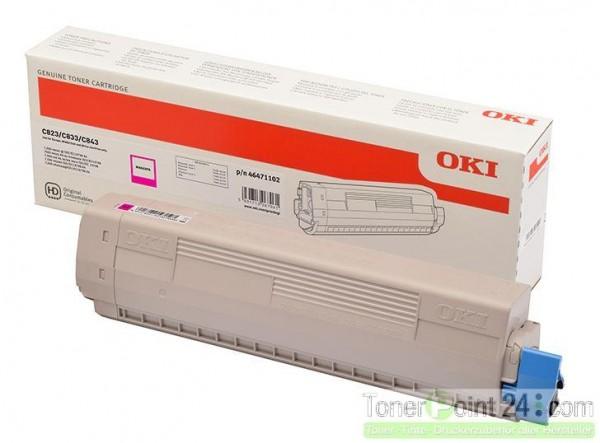 OKI C800 Toner Magenta C823N C833DN C843DN 46471102