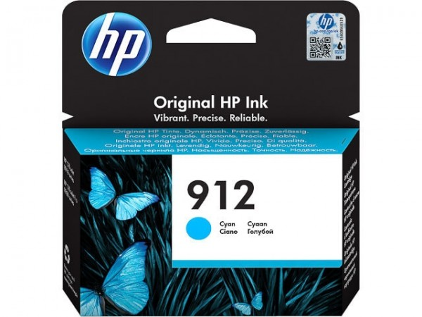 HP 912 Tintenpatrone cyan 3YL77AE für OfficeJet 8012 8014 8015 Officejet Pro 8022 8024 8025 8035