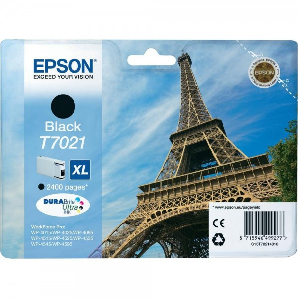 Epson Tintenpatrone T7021 Black XL für WorkForce Pro WP-4015 WP-4025 WP-4095