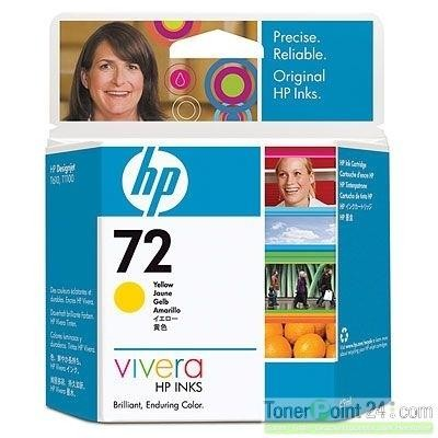 HP 72 Tinte gelb HP DesignJet T610 T620 T770 T1100 T1200 T1300 T2300 C9400A