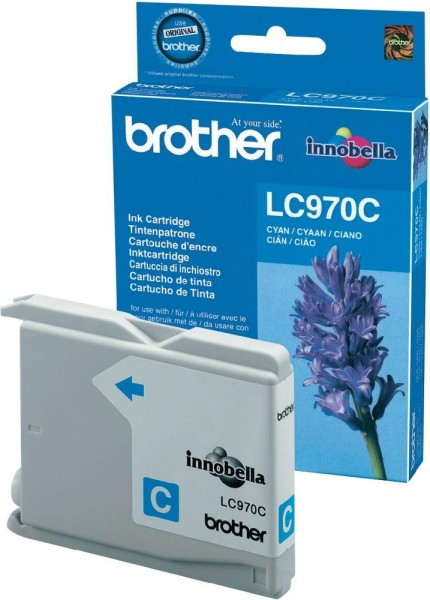 Brother Tintenpatrone Cyan LC970C