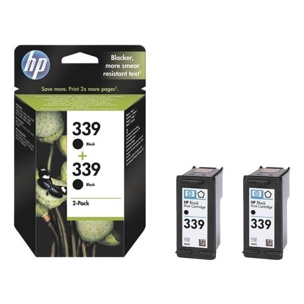 HP 339 Tinte Black No.339 Doppelpack für Photosmart 2610