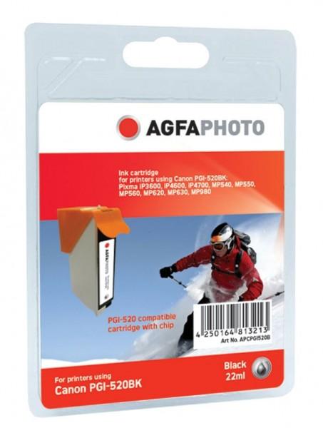 AGFAPHOTO CPGI520B Canon MP450 Tinte BK22ml Extra Life Chip black
