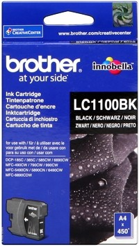 Brother Tintenpatrone Black LC1100BK DCP-185 DCP-383 MFC-490 MFC5890 6490 6690 6890 MFC-790 795