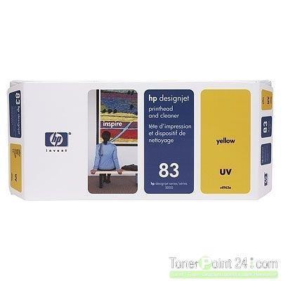 HP 83 Druckkopf Gelb C4963A incl. Druckkopf Reiniger DJ5000 DJ5500 UV