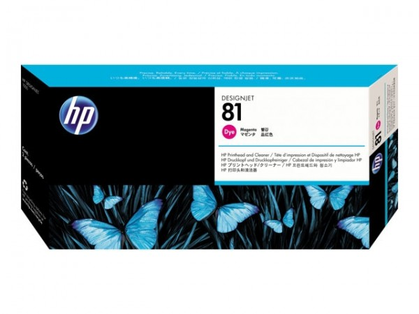 HP 81 Druckkopf -dye- C4952A Magenta incl. Reiniger DJ5000 DJ5500 Serie