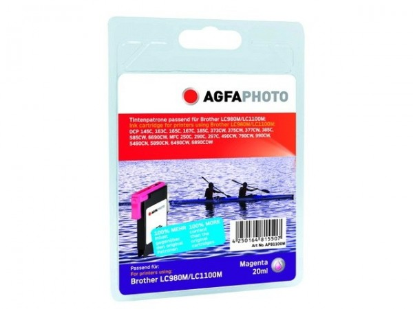 AGFAPHOTO APB1100MD Brother Tinte für MFC-790 Magenta