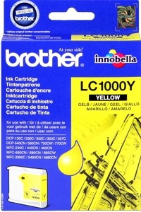 Brother Tintenpatrone Yellow LC1000Y