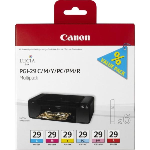 Canon PGI-29 Multipack 6 Tinten für PIXMA PRO-1 4873B005