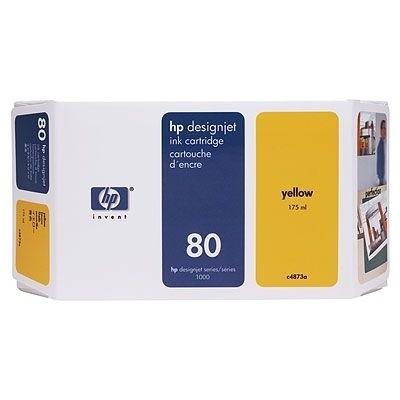 HP 80 Tinte Yellow C4873A für HP DesignJet 1050C 1055CM