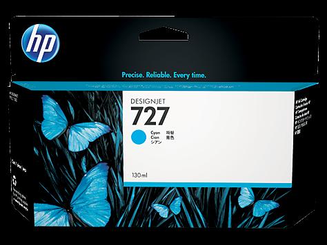 HP 727 Tinte Cyan DesignJet T920 T930 T1500 T1530 T2500 B3P19A