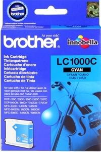 Brother Tintenpatrone Cyan LC1000C