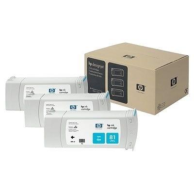 HP 81 Tintenpatrone cyan 3er Pack