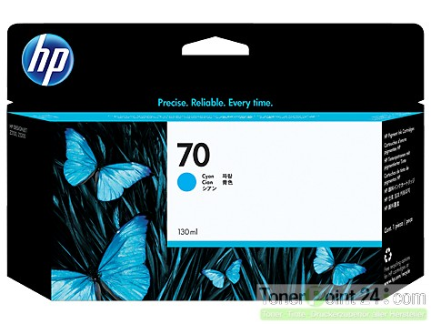 HP 70 Tinte Cyan Z2100 Z3100 Z5200 mit HP Vivera Tinte C9452A