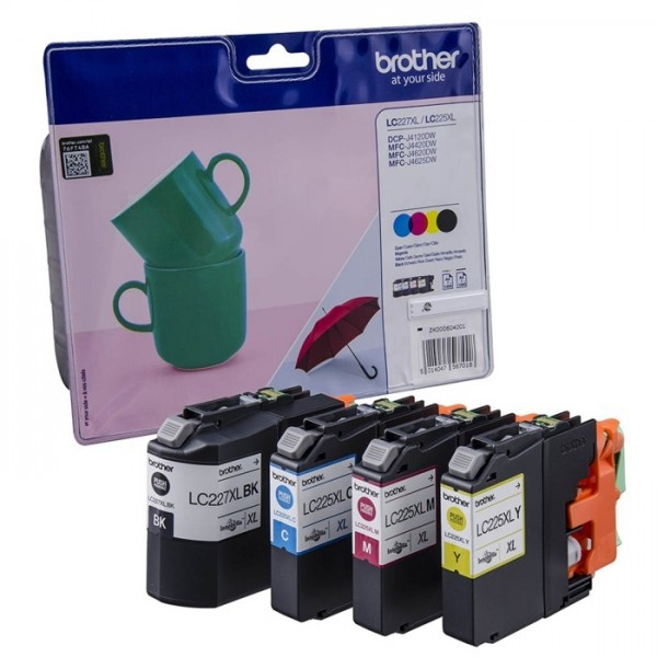 Brother LC227XLVALBPDR Value Pack Tinte C M Y K HIGH CAPACITY J4420DW J4620DW J4625DW